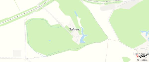 Карта хутора Зайчика в Белгородской области с улицами и номерами домов