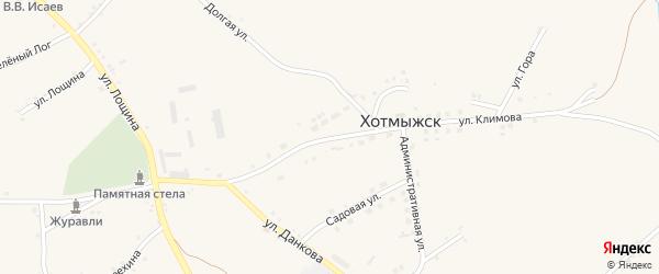 Улица Климова на карте села Хотмыжска с номерами домов