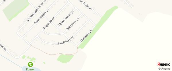 Озерная улица на карте поселка Ракитного с номерами домов