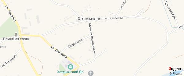 Административная улица на карте села Хотмыжска с номерами домов