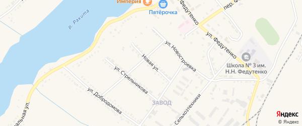 Новая улица на карте поселка Ракитного с номерами домов