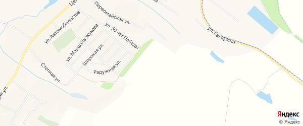 СТ Кулешовка на карте Ракитянского района с номерами домов