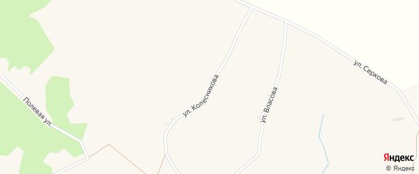 Улица Колесникова на карте села Хотмыжска с номерами домов