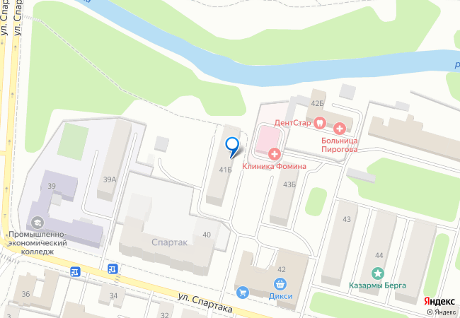 улица Спартака, 41Б на карте Твери, организации, фото подробно 6c00c02b89b