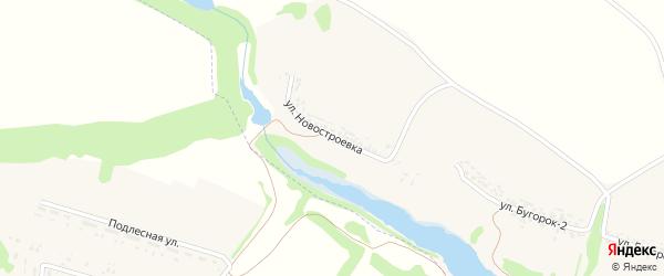 Улица Новостроевка на карте села Зинаидино с номерами домов