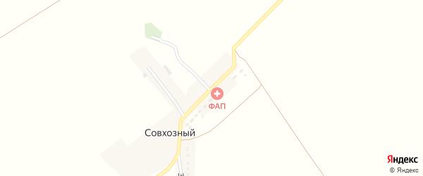 Широкая улица на карте Совхозного поселка с номерами домов