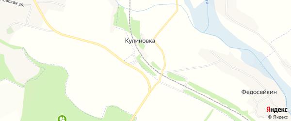 Карта станции Кулиновки в Белгородской области с улицами и номерами домов