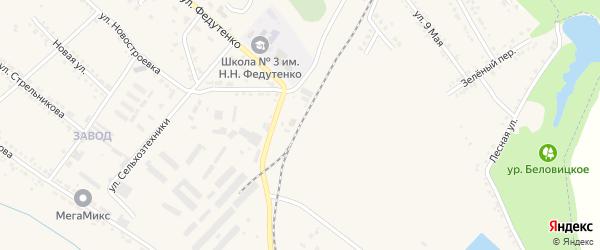 Станция Зинаидино на карте поселка Ракитного с номерами домов