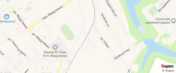 Железнодорожная улица на карте поселка Ракитного с номерами домов