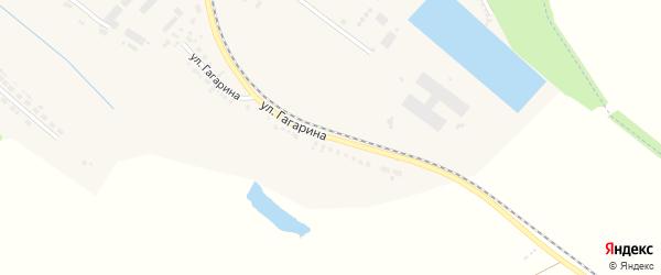 Улица Гагарина на карте поселка Ракитного с номерами домов