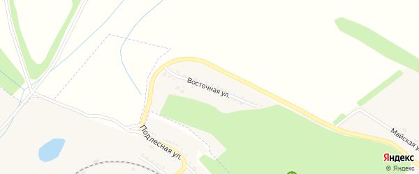 Восточная улица на карте поселка Ракитного с номерами домов