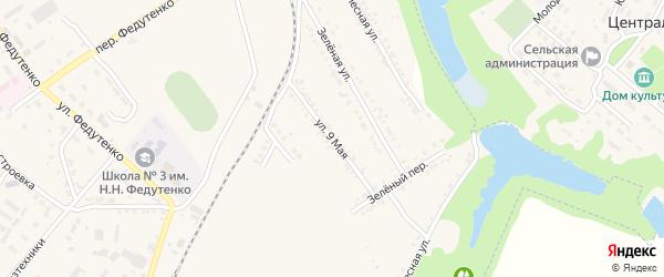 9 Мая улица на карте поселка Ракитного с номерами домов