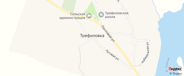 Речной переулок на карте села Трефиловки с номерами домов