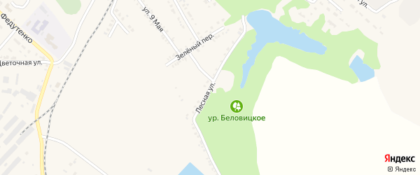 Лесная улица на карте поселка Ракитного с номерами домов
