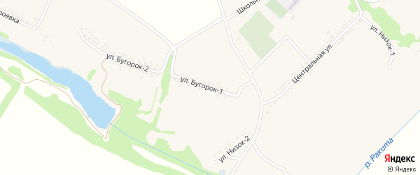 Улица Бугорок-1 на карте села Зинаидино с номерами домов