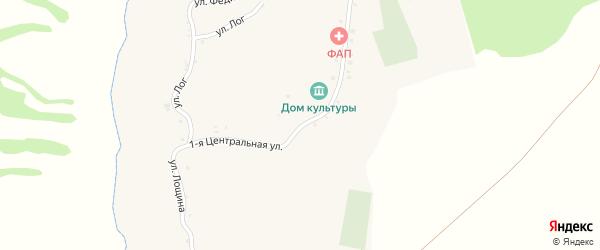 Центральная 1-я улица на карте села Введенской Готни с номерами домов