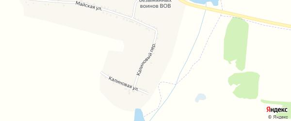 Калиновый переулок на карте села Трефиловки с номерами домов