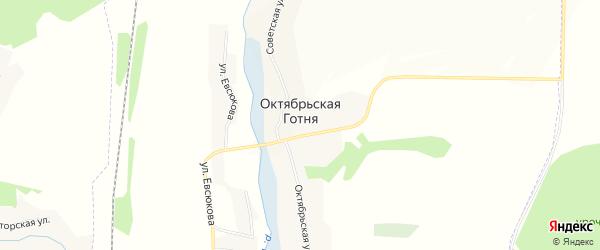 Карта села Октябрьской Готни в Белгородской области с улицами и номерами домов