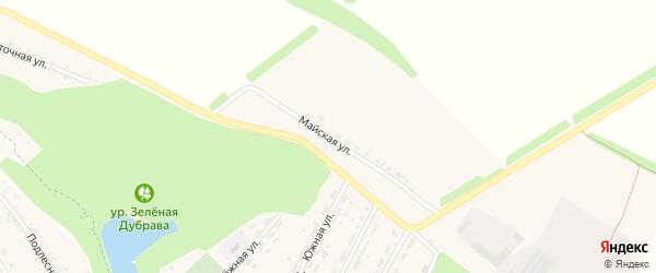 Майская улица на карте Центрального села с номерами домов