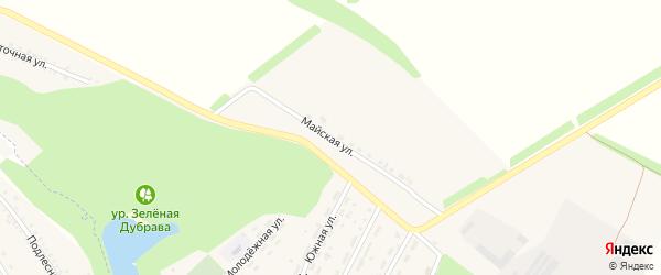 Майская улица на карте поселка Ракитного с номерами домов