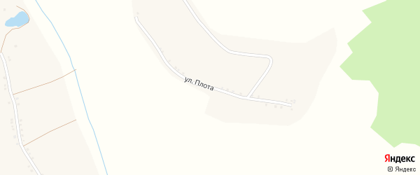 Улица Плота на карте села Введенской Готни с номерами домов