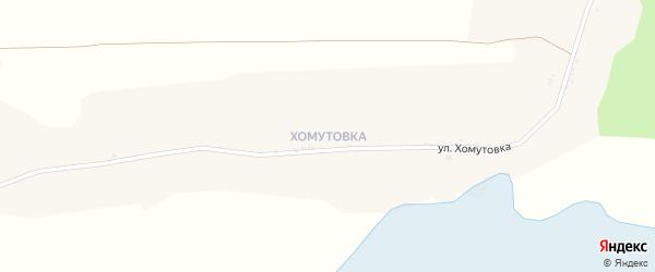 Улица Хомутовка на карте села Хотмыжска с номерами домов