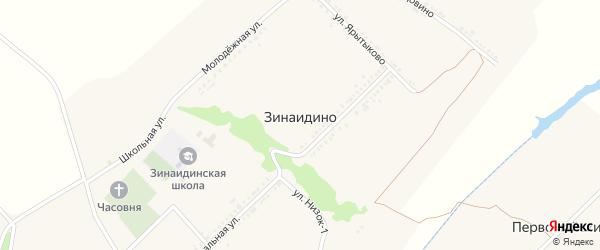 Улица Ялдовино на карте села Зинаидино с номерами домов