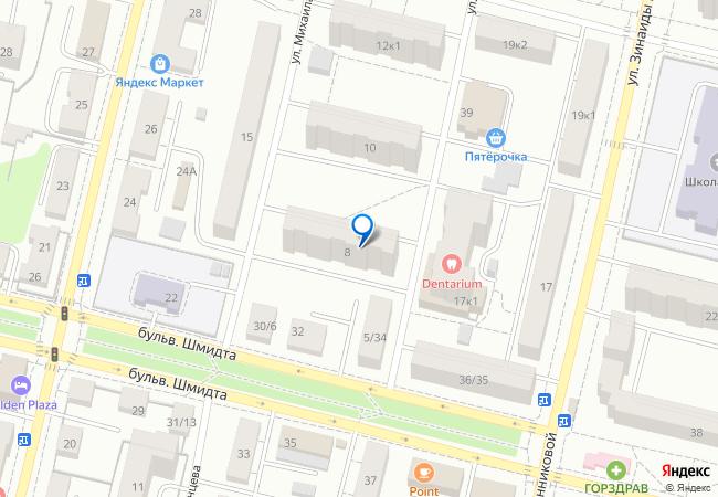 улица Михаила Румянцева, 8 на карте-панораме Твери, организации ... d8ab8a6d903