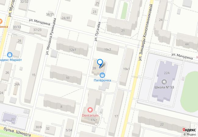 улица Мичурина, 39 на карте-панораме Твери, организации, фото подробно 062c1bbab53