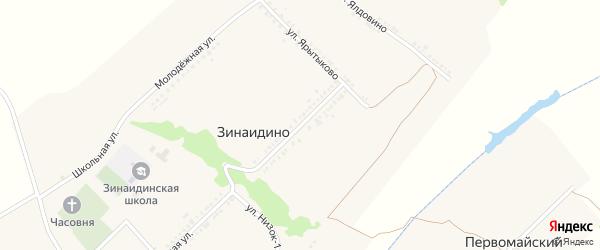 Улица Новая Жизнь на карте села Зинаидино с номерами домов
