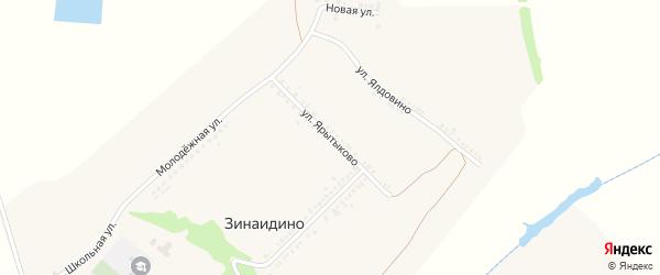 Улица Ярытыково на карте села Зинаидино с номерами домов