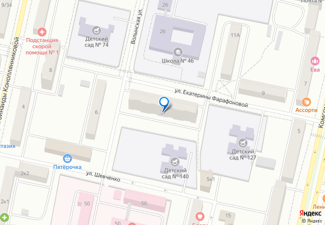 улица Екатерины Фарафоновой, 37 на карте-панораме Твери, организации ... ce6ee5de163