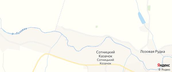 Карта хутора Лозовой Рудки в Белгородской области с улицами и номерами домов