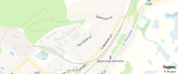 Песчаная улица на карте Беленького села с номерами домов