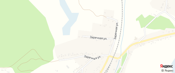 Заречная улица на карте Беленького села с номерами домов