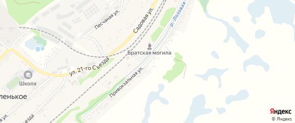 Привокзальная улица на карте Беленького села с номерами домов