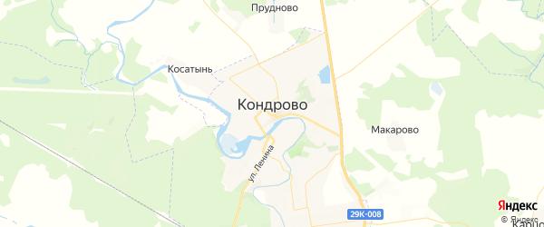 Карта Кондрово с районами, улицами и номерами домов: Кондрово на карте России