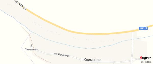 Белгородская улица на карте села Березовки с номерами домов