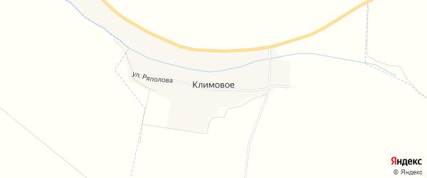 Карта хутора Климового в Белгородской области с улицами и номерами домов
