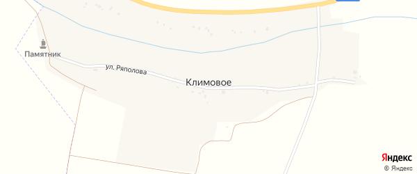Улица Ряполова Н.Ф. на карте хутора Климового с номерами домов