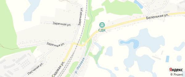 Беленькая улица на карте Беленького села с номерами домов