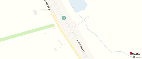 Колхозная улица на карте села Зозули с номерами домов