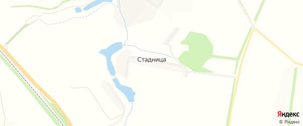 Карта хутора Стадницы в Белгородской области с улицами и номерами домов