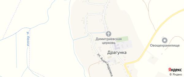 Улица Александровка на карте села Драгунки с номерами домов