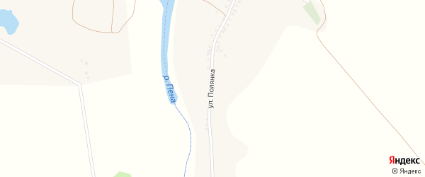 Улица Полянка на карте села Драгунки с номерами домов
