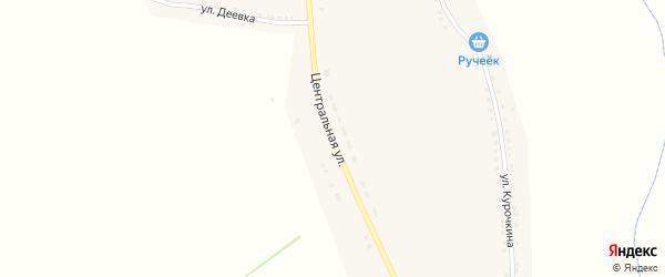 Центральная улица на карте села Нижние Пены с номерами домов