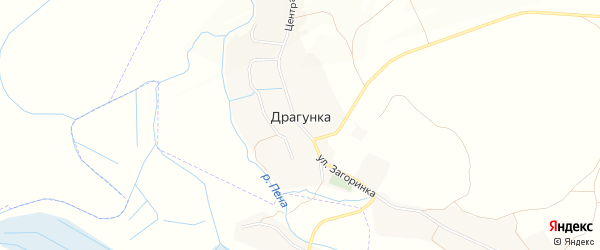 Карта села Драгунки в Белгородской области с улицами и номерами домов