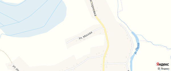 Улица Москва на карте села Нижние Пены с номерами домов