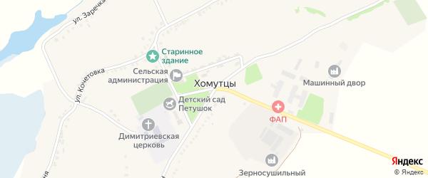 Улица Пескуновка на карте села Хомутцы с номерами домов