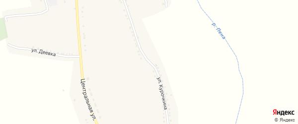 Улица Курочкина на карте села Нижние Пены с номерами домов